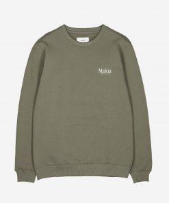 Makia Origin Sweatshirt Olive Green