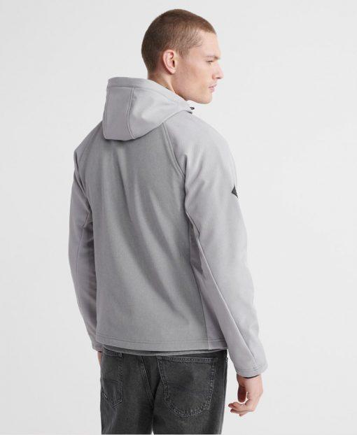 Superdry Hooded Softshell Jacket Light Grey