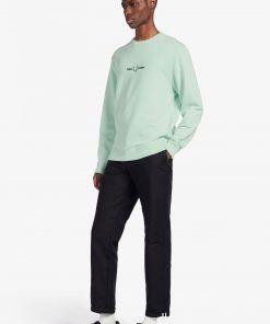 Fred Perry Graphic Sweatshirt Misty Jade