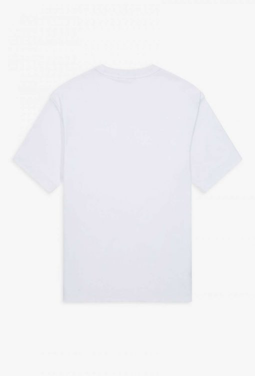 Fred Perry Abstract Print T-shirt White