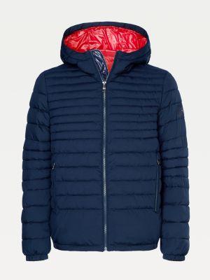 Tommy Hilfiger Quilted Hooded Jacket Desert Sky Blue