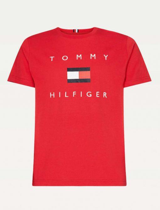 Tommy Hilfiger Flag T-shirt Red