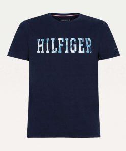 Tommy Hilfiger Floral Logo T-shirt Navy