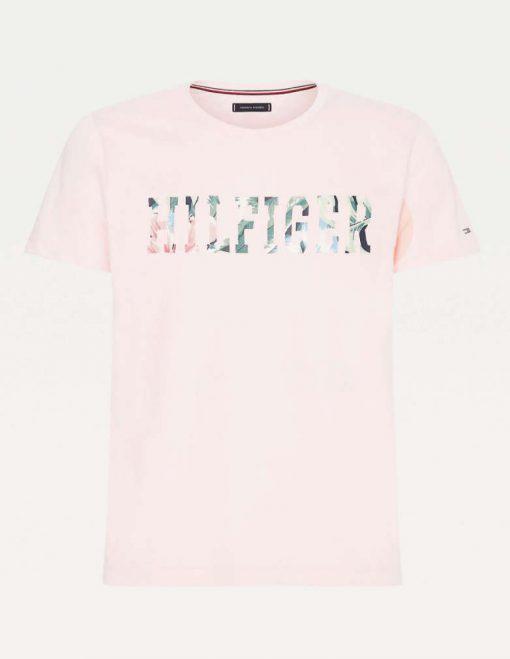 Tommy Hilfiger Floral Logo T-Shirt Pink