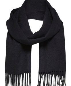 Selected Homme Tope Wool Scarf Black