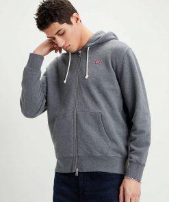 Levi's Jackson New Original Zip-up Hoodie Grey