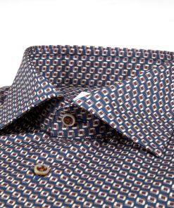 Stenströms Slim fitted Shirt Blue-brown