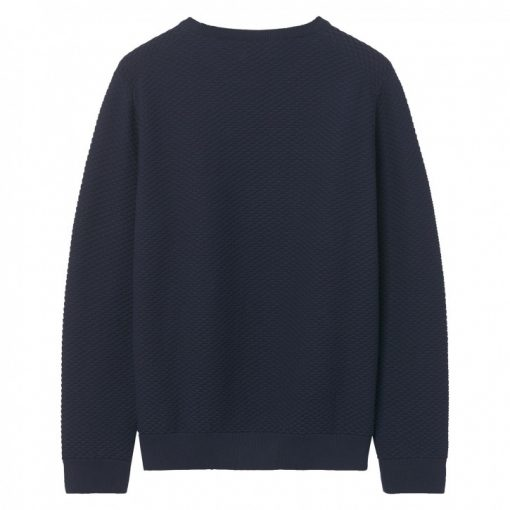 Gant Triangle Texture Crew Pullover Evening Blue