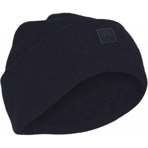 Knowledge Cotton Apparel Leaf Organic Wool Beanie Total Eclipse