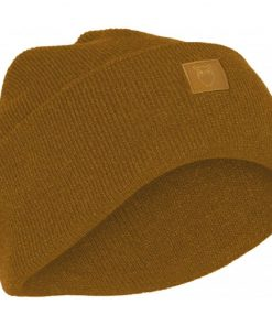 Knowledge Cotton Apparel Leaf Organic Wool Beanie Buckhorn Brown