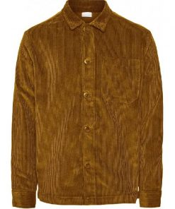 Knowledge Cotton Apparel 8 Wales Corduroy Overshirt Buckhorn Brown