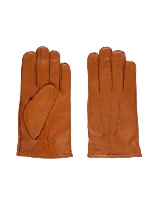 J.Lindeberg Milo Leather Gloves Cognac