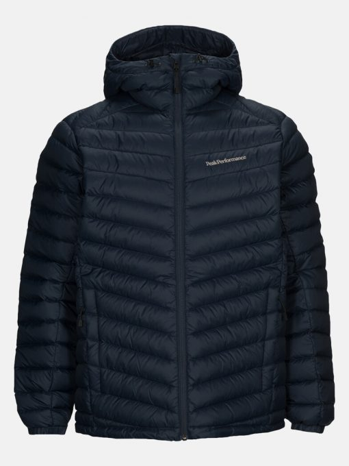 Peak Performance Frost Down Hood Jacket Men Blue Shadow
