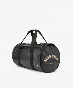 Fred Perry Tonal Barrel Bag Black
