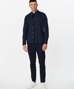 Les Deux Harrison B.D Brushed Shirt Dark Navy