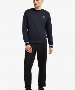 Fred Perry Crew Neck Sweatshirt Navy