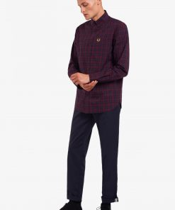 Fred Perry Winter Tartan Shirt Mahogany
