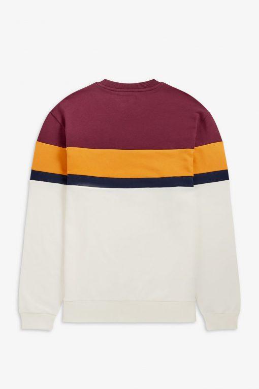 Fred Perry Colourblock Sweatshirt Mahogany