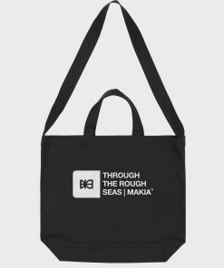 Makia Flint Shoulder Tote Bag Black