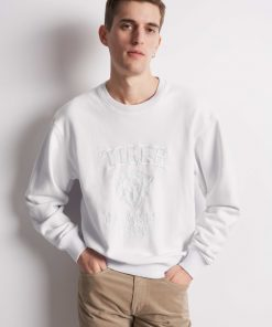 Tiger Jeans Zoab Emb Sweatshirt White Light