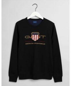 Gant Archive Shield C-Neck Black