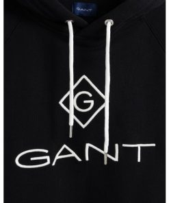 Gant Lock Up Hoodie Black