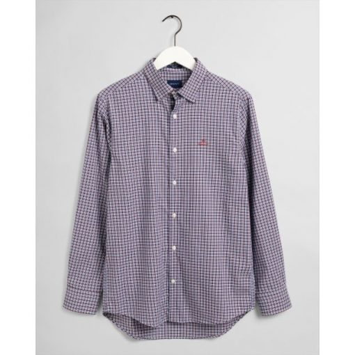 Gant Oxford Check Shirt Bright Red