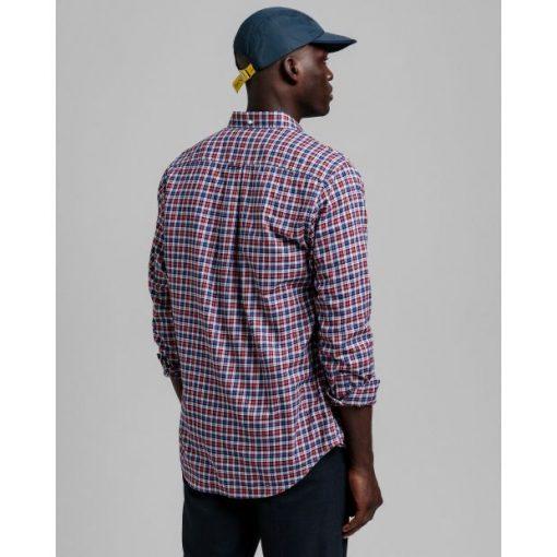 Gant Twill Micro Tartan Shirt Bright Red