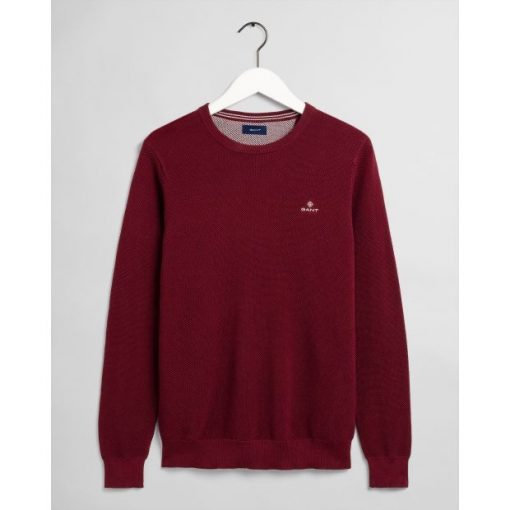 Gant Cotton Pique C-Neck Port Red