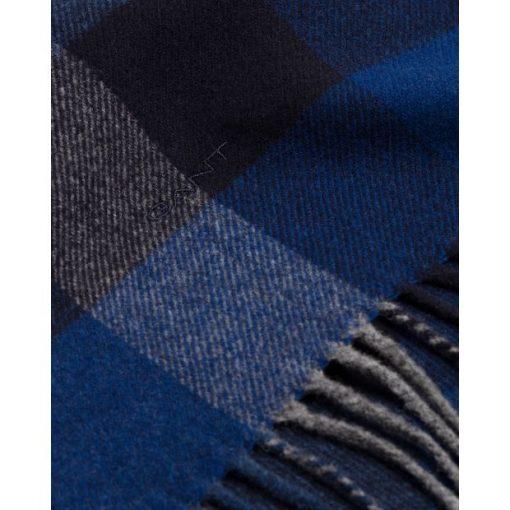 Gant Multi Check Wool Scarf Crisp Blue