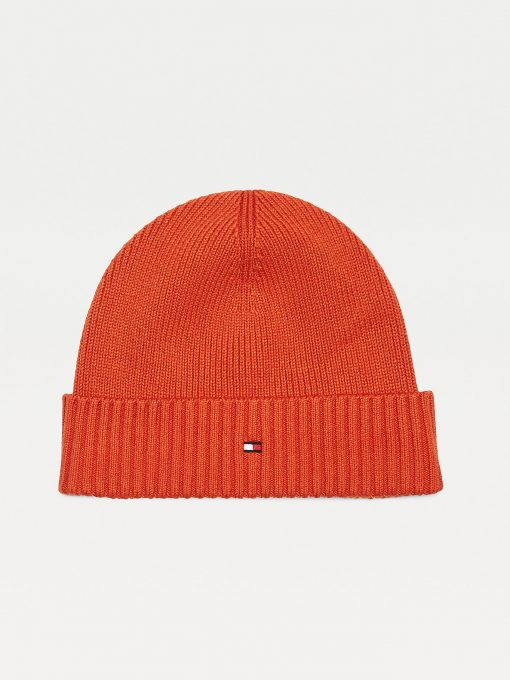 Tommy Hilfiger Pima Cotton Beanie Tuscon Orange