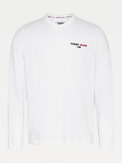 Tommy Jeans Chest Corp Longsleeve Tee White