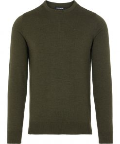 J.LINDEBERG LYLE MERINO CREW NECK SWEATER GREEN