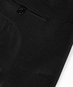 J.LINDEBERG HOLGER COMPACT MELTON WOOL COAT BLACK