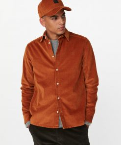 Les Deux Felix HW Corduroy Shirt Rusty Brown