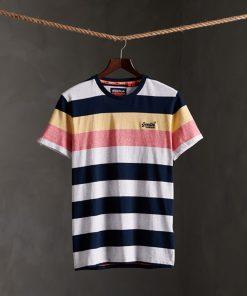 Superdry Orange Label Hoop Stripe T-shirt Eclipse Navy
