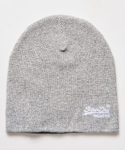 Superdry Orange Label Beanie Shale Grit