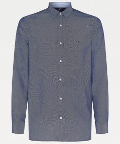 Tommy Hilfiger Stretch Slim Fit Dobby Shirt Carbon Navy