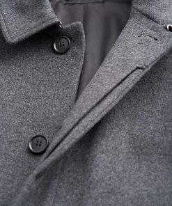 Tiger of Sweden Carred Coat Medium Grey Melange
