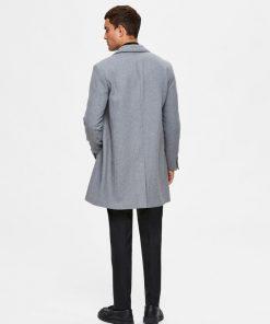 Selected Homme Hagen Wool Coat Grey