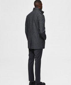 Selected Homme Noah Wool Coat Dark Grey