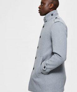 Selected Homme Noah Wool Coat Grey