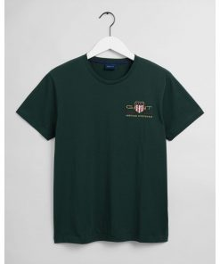 Gant Archive Shield T-shirt Tartan Green