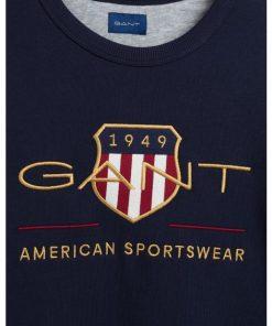 Gant Archive Shield C-Neck Evening Blue