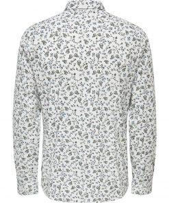 Only & Sons Sander Print Shirt White