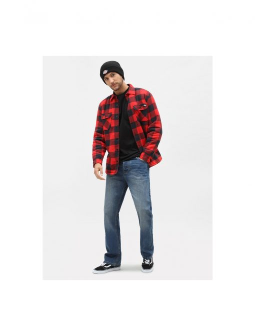 Dickies Sacramento Relaxed Long Sleeve Shirt Red