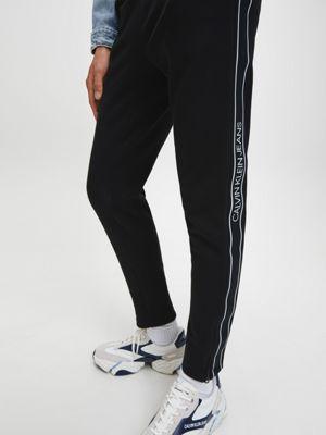 Calvin Klein Logo Tape Pant Black