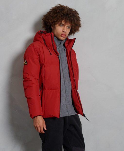 Superdry Evolution Puffer Jacket Rouge Red