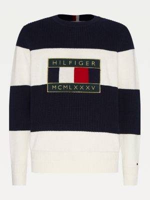Tommy Hilfiger Iconic Graphic Sweater Ivory