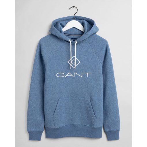 Gant Lock Up Hoodie Denim Blue Melange